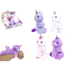 20 cm Hugglers Snapband Plush Unicorn 12pce Cdu 3 Asst
