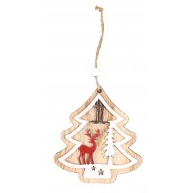 Pendant Christmas tree 9x10 / 19 cm