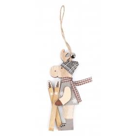Christmas reindeer pendant 6x14 / 23 cm
