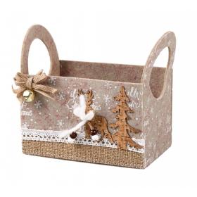 Christmas felt box 16x10.5x10 / 15.5 cm
