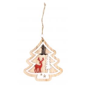 Pendant Christmas tree 11x13 / 24 cm