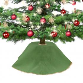Jute dress for Christmas tree green 90 cm