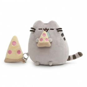 Pusheen plush vwith pizza and  key ring 16 cm