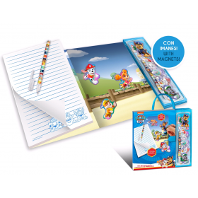 Paw Patrol notebook with pen and magnets
